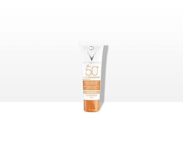 Cuidado protector anti-manchas 3en1 SPF 50+